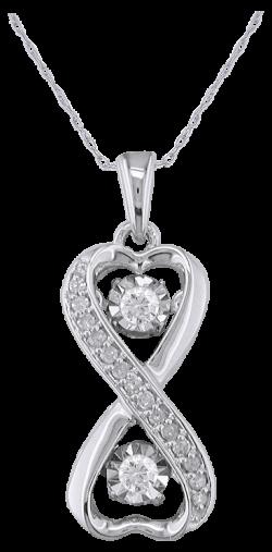 CB15-28 Diamond Shimmer Pendant .20cttw  10k
